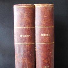 Coleccionismo de Revistas y Periódicos: MUNDO: REVISTA DE POLITICA Y ECONOMIA AÑO 1949 COMPLETO EN DOS TOMOS ENCUADERNADOS – AGENCIA EFE. Lote 74165215