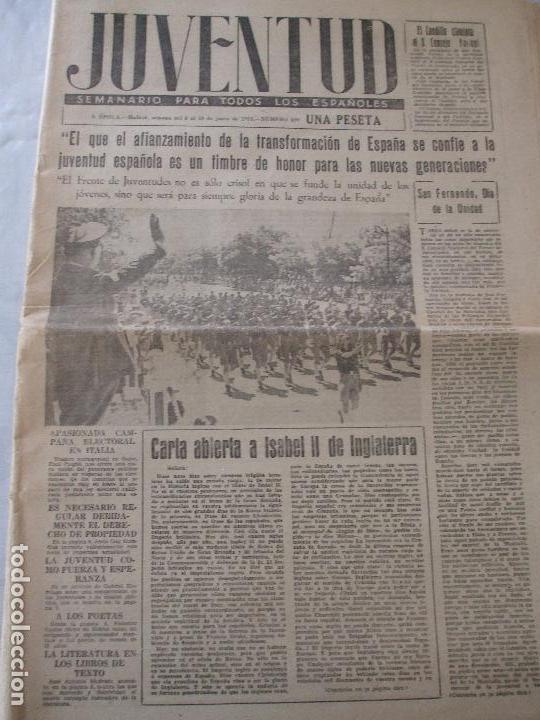 SEMANARIO JUVENTUD (Coleccionismo - Revistas y Periódicos Modernos (a partir de 1.940) - Otros)