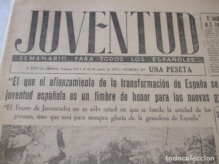 Coleccionismo de Revistas y Periódicos: SEMANARIO JUVENTUD - Foto 2 - 74179011