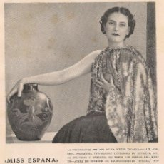 Collezionismo di Riviste e Giornali: MISS ESPAÑA, MISS EUROPA ALICIA NAVARRO ( DE TENERIFE) - 1935. Lote 74275567