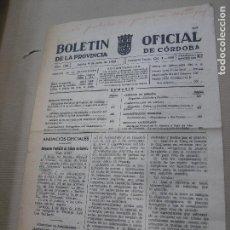 Coleccionismo de Revistas y Periódicos: BOLETÍN OFICIAL DE LA PROVINCIA DE CÓRDOBA 9 JULIO 1959. Lote 74281407