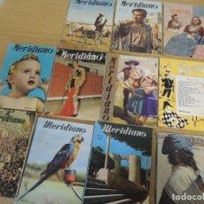 Coleccionismo de Revistas y Periódicos: 11 REVISTAS MERIDIANO AÑOS 50. Lote 74398039