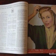 Coleccionismo de Revistas y Periódicos: MUNDO HISPÁNICO AÑO 1955 COMPLETO ENCUADERNADO. Lote 74596691