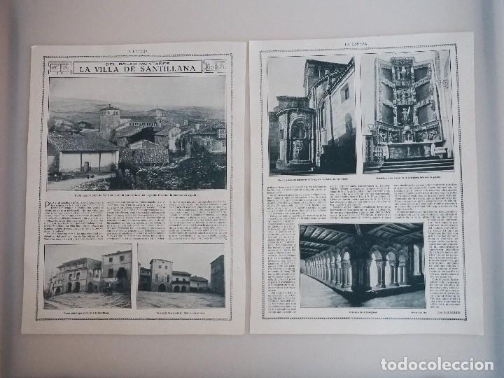 REPORTAJE REVISTA ORIGINAL 1915. DEL SOLAR MONTAÑES. LA VILLA DE SANTILLANA (Coleccionismo - Revistas y Periódicos Antiguos (hasta 1.939))