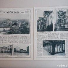 Coleccionismo de Revistas y Periódicos: REPORTAJE REVISTA ORIGINAL 1915. DEL SOLAR MONTAÑES. LA VILLA DE SANTILLANA. Lote 74616343