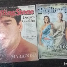 Coleccionismo de Revistas y Periódicos: REVISTAS ROLLING STONE DOS NÚMEROS MARADONA & SELECCIÓN ARGENTINA. POSTER RARAS.. Lote 74801031