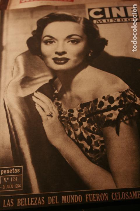 CINE MUNDO REVISTA Nº 124 ANN BLYTH 1954 SAN SEBASTIAN FESTIVAL (Coleccionismo - Revistas y Periódicos Modernos (a partir de 1.940) - Otros)