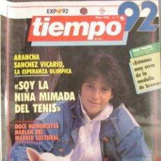 Coleccionismo de Revistas y Periódicos: REVISTA TIEMPO 3 1992. MARIBEL VERDÚ, FURA DELS BAUS, ARANCHA SANCHEZ VICARIO, SERGEI BUBKA.. Lote 74927403