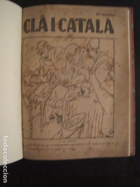 REVISTA CLA I CATALA - ANY 1925 -COMPLERTA - 4 NUMEROS -CORNET .....-(V-8732) (Coleccionismo - Revistas y Periódicos Antiguos (hasta 1.939))