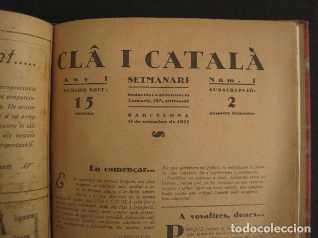 Coleccionismo de Revistas y Periódicos: REVISTA CLA I CATALA - ANY 1925 -COMPLERTA - 4 NUMEROS -CORNET .....-(V-8732) - Foto 6 - 74987823