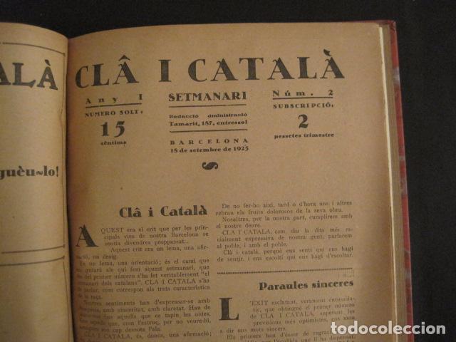 Coleccionismo de Revistas y Periódicos: REVISTA CLA I CATALA - ANY 1925 -COMPLERTA - 4 NUMEROS -CORNET .....-(V-8732) - Foto 9 - 74987823