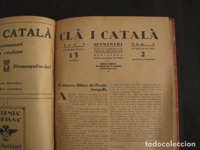 Coleccionismo de Revistas y Periódicos: REVISTA CLA I CATALA - ANY 1925 -COMPLERTA - 4 NUMEROS -CORNET .....-(V-8732) - Foto 11 - 74987823