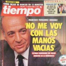 Collezionismo di Riviste e Giornali: REVISTA TIEMPO 537 1992 PALOMA LAGO, CESAR RINCON, ANGELA MOLINA, ELISA MATILLA, JOSE CARRERAS. Lote 75024003