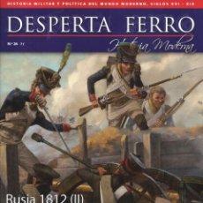 Coleccionismo de Revistas y Periódicos: DESPERTA FERRO HISTORIA MODERNA N. 26 - EN PORTADA: RUSIA 1812 (II), LA BATALLA DE BORODINO (NUEVA). Lote 134939261