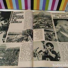 Coleccionismo de Revistas y Periódicos: RECORTE HOMENAJE AL CAUDILLO ONOMASTICA DE FRANCO . Lote 75273019
