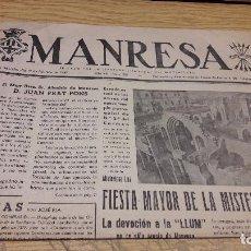 Coleccionismo de Revistas y Periódicos: MANRESA. FEBRERO DE 1949. EDITADO POR LA JEFATURA COMARCAL DEL MOVIMIENTO. (PORTADA ). Lote 75453811