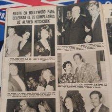 Coleccionismo de Revistas y Periódicos: RECORTE ALFRED HITCHCOCK ROD TAYLOR KAREN KIMURA TELLY SAVALAS PAUL NEWMAN CHARLTON HESTON. Lote 75515027