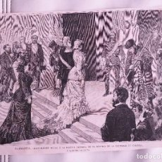 Coleccionismo de Revistas y Periódicos: GRABADO REVISTA ORIGINAL SIGLO XIX. RECIBIMIENTO FAMILIA IMPERIAL CATEDRAL COLONIA. Lote 75529019
