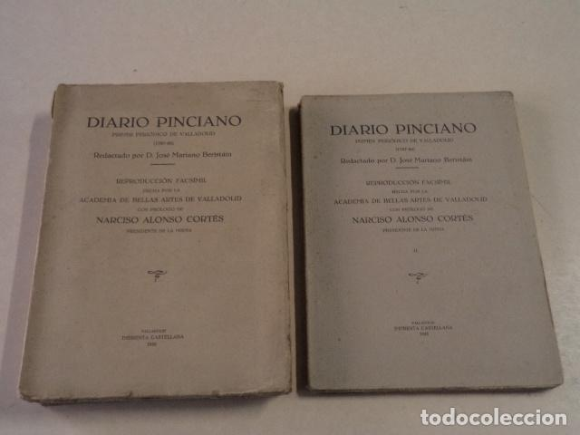DIARIO PINCIANO - PRIMER PERIÓDICO DE VALLADOLID (1787-88) - 2 TOMOS - REPRODUCCIÓN FACSÍMIL DE 1933 (Coleccionismo - Revistas y Periódicos Antiguos (hasta 1.939))
