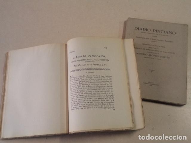 Coleccionismo de Revistas y Periódicos: DIARIO PINCIANO - PRIMER PERIÓDICO DE VALLADOLID (1787-88) - 2 TOMOS - REPRODUCCIÓN FACSÍMIL DE 1933 - Foto 2 - 75586427