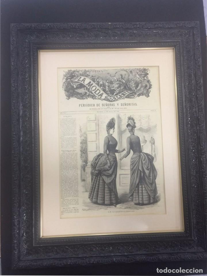 periódico enmarcado -la moda elegante- 1886 - Comprar Revistas y ...