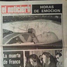 Coleccionismo de Revistas y Periódicos: PERIODICO EL NOTICIERO ENTIERRO DE FRANCO. Lote 75765963