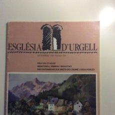 Coleccionismo de Revistas y Periódicos: REVISTA ESGLESIA D'URGELL 1989 ERA VAL D'ARAN , MERITXELL TAIZE COVET. Lote 75776683