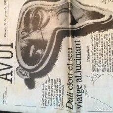 Coleccionismo de Revistas y Periódicos: SALVADOR DALÍ. REPORTAJE DIARI AVUI SOBRE SU MUERTE. 24 GENER/ENERO 1989. Lote 75862003