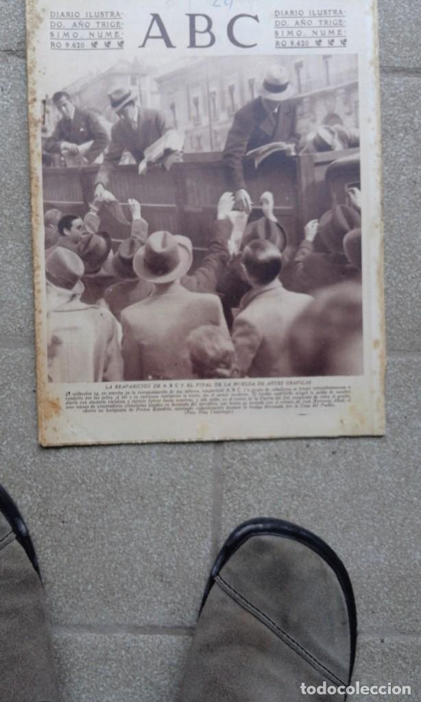 ANTIGUO PERIODICO DIARIO ESPAÑOL 1934 ABC NUMERO 9620 REAPARICION ABC - HUELGA ARTES GRAFICAS (Coleccionismo - Revistas y Periódicos Antiguos (hasta 1.939))
