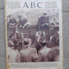 Coleccionismo de Revistas y Periódicos: ANTIGUO PERIODICO DIARIO ESPAÑOL 1934 ABC NUMERO 9620 REAPARICION ABC - HUELGA ARTES GRAFICAS. Lote 75891063