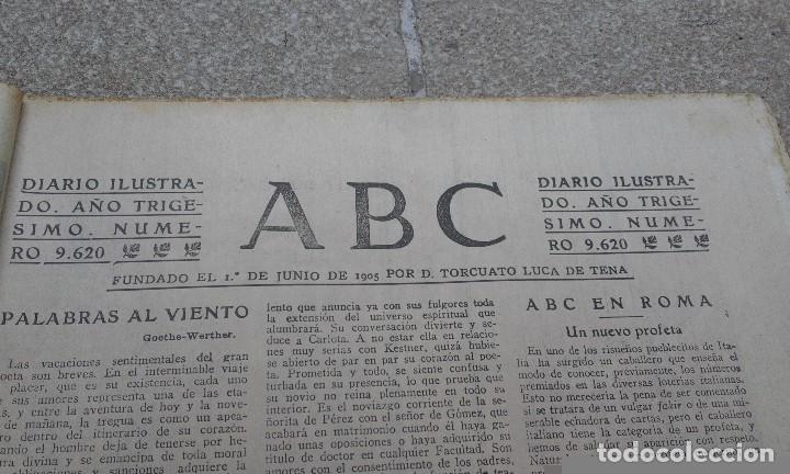 Coleccionismo de Revistas y Periódicos: Antiguo periodico diario español 1934 ABC numero 9620 reaparicion ABC - Huelga artes graficas - Foto 3 - 75891063