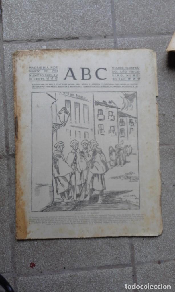 ANTIGUO PERIODICO DIARIO ESPAÑOL MADRID AÑO 1934 NUMERO SUELTO 18 MARZO RINCONES DE MADRID (Coleccionismo - Revistas y Periódicos Antiguos (hasta 1.939))