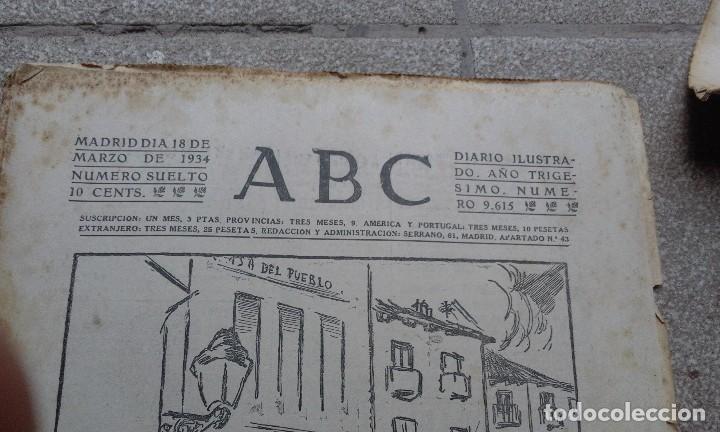 Coleccionismo de Revistas y Periódicos: Antiguo periodico diario Español madrid año 1934 numero suelto 18 Marzo Rincones de Madrid - Foto 2 - 75892963