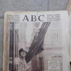 Coleccionismo de Revistas y Periódicos: ANTIGUO PERIODICO DIARIO ESPAÑOL MADRID ABC 6 MARZO 1936 2ª GUERRA MUNDIAL MUSSOLINI SUPLEMENTO ARTE. Lote 145361770