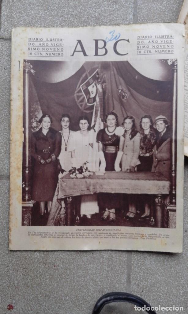 ANTIGUO PERIODICO ABC DIARIO ESPAÑOL MADRID 30 NOVIEMBRE 1933 FRATERNIDAD HISPANOLUSITANA (Coleccionismo - Revistas y Periódicos Antiguos (hasta 1.939))