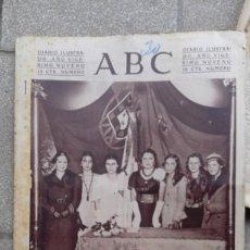 Coleccionismo de Revistas y Periódicos: ANTIGUO PERIODICO ABC DIARIO ESPAÑOL MADRID 30 NOVIEMBRE 1933 FRATERNIDAD HISPANOLUSITANA. Lote 75896991