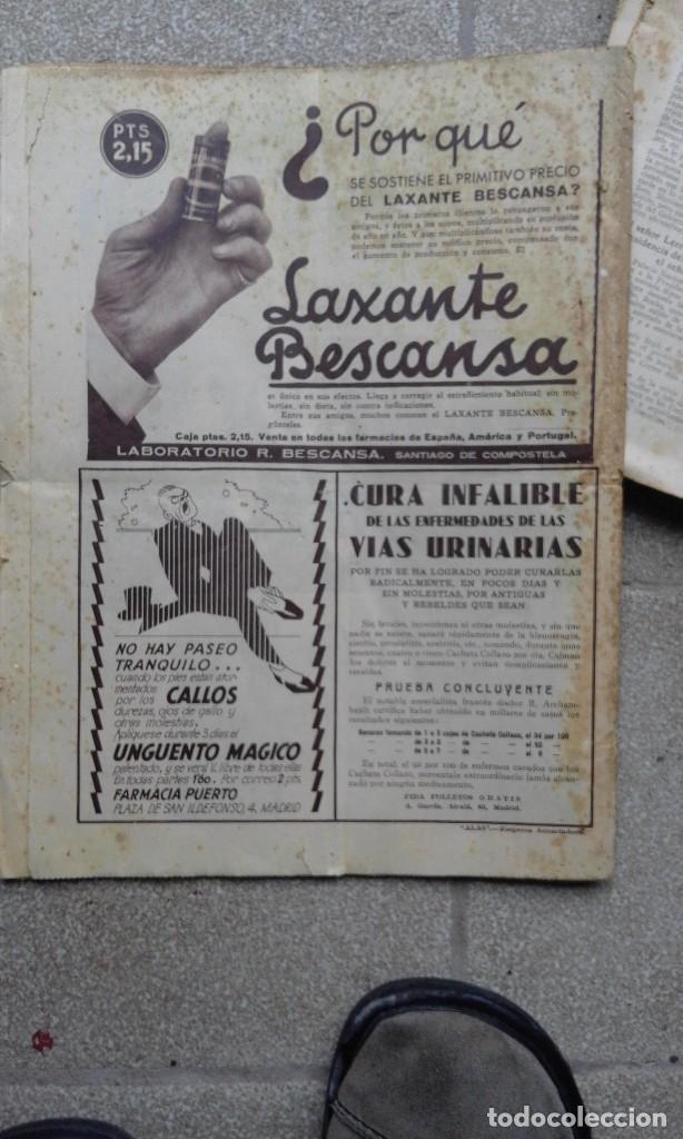 Coleccionismo de Revistas y Periódicos: Antiguo periodico ABC diario español madrid 30 Noviembre 1933 Fraternidad Hispanolusitana - Foto 3 - 75896991
