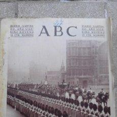 Coleccionismo de Revistas y Periódicos: ANTIGUO PERIODICO DIARIO ESPAÑOL MADRID ABC 27 DE NOVIEMBRE DE 1933 APERTURA PARLAMENTO INGLES. Lote 75898227