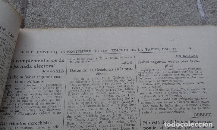 Coleccionismo de Revistas y Periódicos: Antiguo periodico diario abc español madrid 23 noviembre de 1933 Inundaciones en Vizcaya - Foto 2 - 75899303
