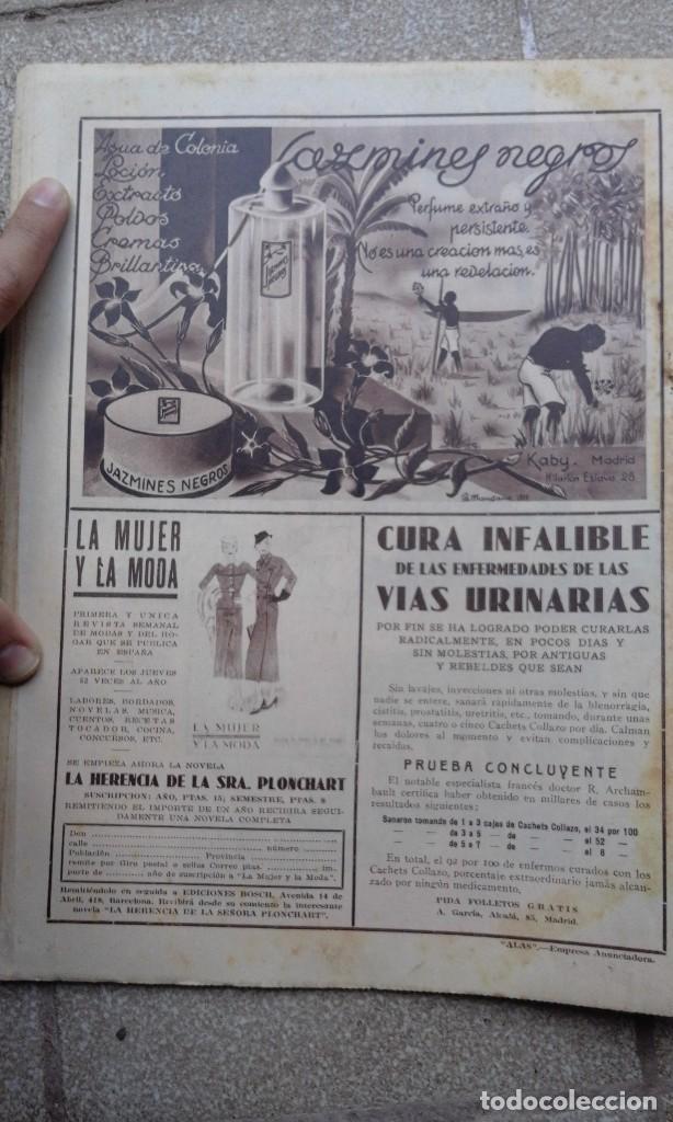 Coleccionismo de Revistas y Periódicos: Antiguo periodico diario abc español madrid 23 noviembre de 1933 Inundaciones en Vizcaya - Foto 3 - 75899303