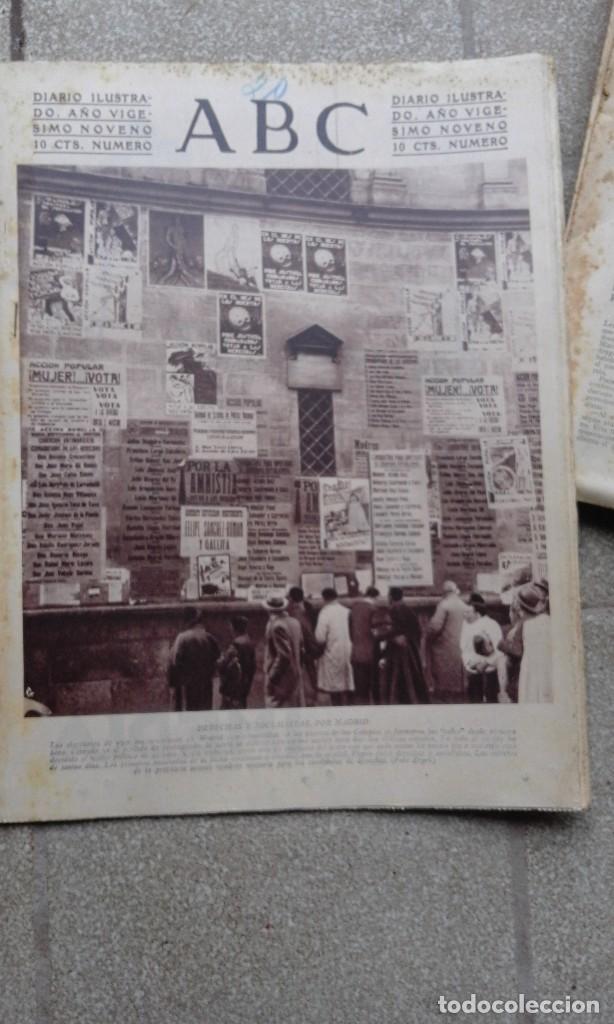 ANTIGUO PERIODICO DIARIO ESPAÑOL ABC 20 NOVIMEBRE DE 1933 DERECHAS Y SOCIALISTAS POR MADRID (Coleccionismo - Revistas y Periódicos Antiguos (hasta 1.939))