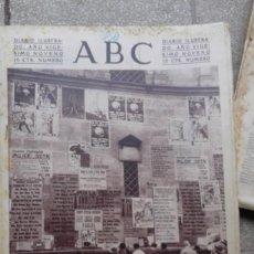 Coleccionismo de Revistas y Periódicos: ANTIGUO PERIODICO DIARIO ESPAÑOL ABC 20 NOVIMEBRE DE 1933 DERECHAS Y SOCIALISTAS POR MADRID. Lote 75900695