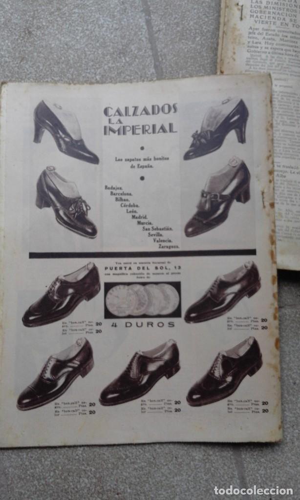 Coleccionismo de Revistas y Periódicos: Antiguo periodico diario español abc 20 novimebre de 1933 derechas y socialistas por madrid - Foto 4 - 75900695