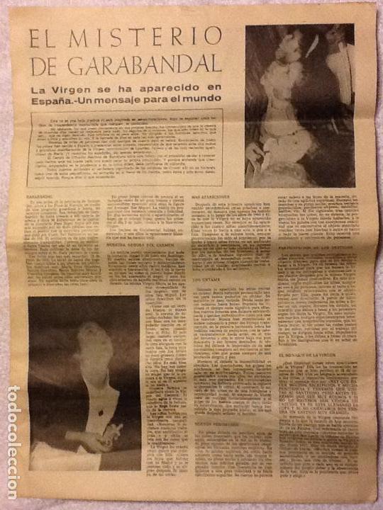 FOLLETO DIARIO EL MISTERIO DE GARABANDAL - 1966. (Coleccionismo - Revistas y Periódicos Modernos (a partir de 1.940) - Otros)