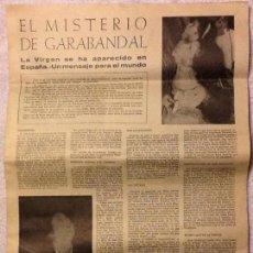 Coleccionismo de Revistas y Periódicos: FOLLETO DIARIO EL MISTERIO DE GARABANDAL - 1966.. Lote 183845635
