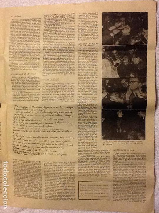 Coleccionismo de Revistas y Periódicos: FOLLETO DIARIO EL MISTERIO DE GARABANDAL - 1966. - Foto 2 - 183845635