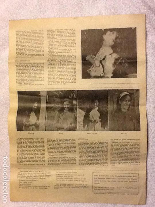 Coleccionismo de Revistas y Periódicos: FOLLETO DIARIO EL MISTERIO DE GARABANDAL - 1966. - Foto 4 - 183845635