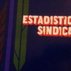 Coleccionismo de Revistas y Periódicos: ESTADISTICA SINDICAL. Lote 76018331