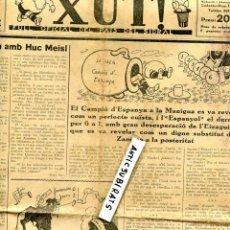 Coleccionismo de Revistas y Periódicos: XUT AÑO 1936 FUTBOL ESPAÑOL 6 SEVILLA 1 EIZAGUIRRE ZAMORA BARCELONA 0 BETIS 2 VIÑETAS HUMORISTICAS. Lote 76024627