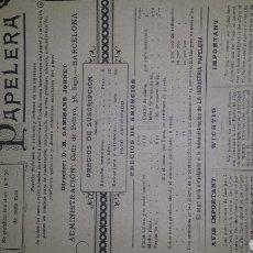 Coleccionismo de Revistas y Periódicos: ANTIGUA REVISTA LA INDUSTRIA PAPELERA AÑO II ABRIL 1899. N° 7. Lote 76526067